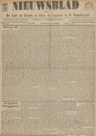 Nieuwsblad het land van Heusden en Altena de Langstraat en de Bommelerwaard 1897-04-14
