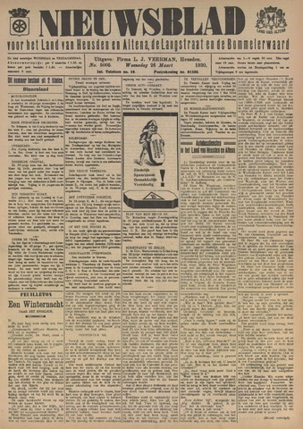 Nieuwsblad het land van Heusden en Altena de Langstraat en de Bommelerwaard 1930-03-26