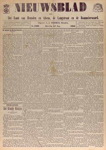 Nieuwsblad het land van Heusden en Altena de Langstraat en de Bommelerwaard 1909-08-14