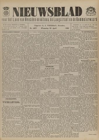 Nieuwsblad het land van Heusden en Altena de Langstraat en de Bommelerwaard 1921-04-13