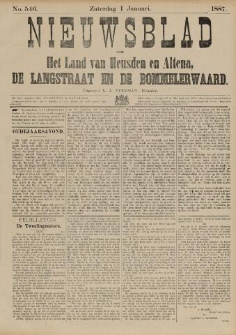 Nieuwsblad het land van Heusden en Altena de Langstraat en de Bommelerwaard 1887-01-01