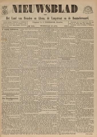Nieuwsblad het land van Heusden en Altena de Langstraat en de Bommelerwaard 1903-08-12