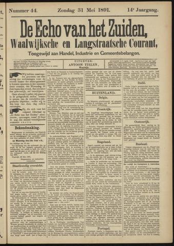 Echo van het Zuiden 1891-05-31