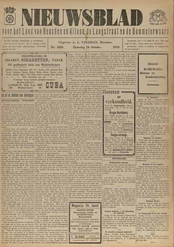 Nieuwsblad het land van Heusden en Altena de Langstraat en de Bommelerwaard 1919-10-18