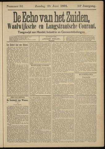 Echo van het Zuiden 1891-06-28