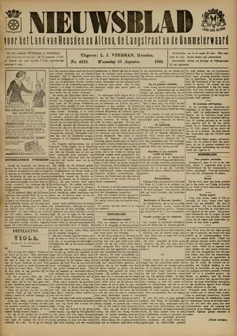Nieuwsblad het land van Heusden en Altena de Langstraat en de Bommelerwaard 1922-08-23