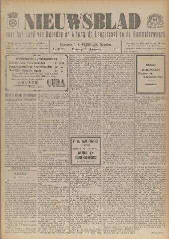Nieuwsblad het land van Heusden en Altena de Langstraat en de Bommelerwaard 1918-11-23