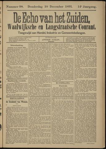 Echo van het Zuiden 1891-12-10