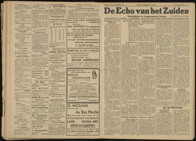 Echo van het Zuiden 1947-11-25