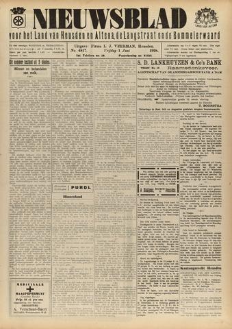 Nieuwsblad het land van Heusden en Altena de Langstraat en de Bommelerwaard 1928-06-01