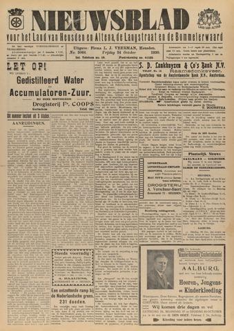 Nieuwsblad het land van Heusden en Altena de Langstraat en de Bommelerwaard 1930-10-24