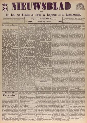 Nieuwsblad het land van Heusden en Altena de Langstraat en de Bommelerwaard 1909-02-27