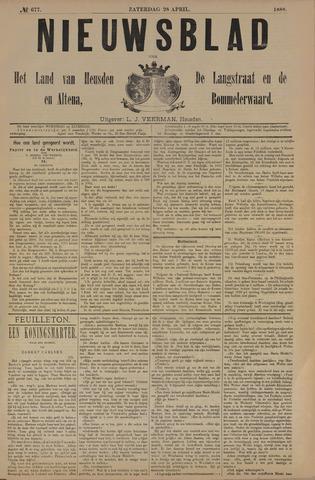 Nieuwsblad het land van Heusden en Altena de Langstraat en de Bommelerwaard 1888-04-28