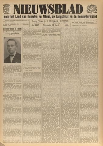 Nieuwsblad het land van Heusden en Altena de Langstraat en de Bommelerwaard 1932-04-13