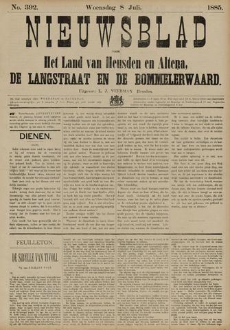 Nieuwsblad het land van Heusden en Altena de Langstraat en de Bommelerwaard 1885-07-08