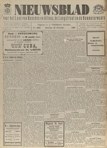 Nieuwsblad het land van Heusden en Altena de Langstraat en de Bommelerwaard 1920-11-13
