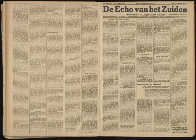 Echo van het Zuiden 1947-12-04