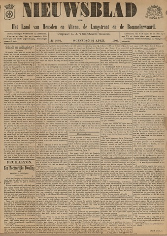 Nieuwsblad het land van Heusden en Altena de Langstraat en de Bommelerwaard 1901-04-24