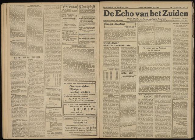 Echo van het Zuiden 1947-01-30