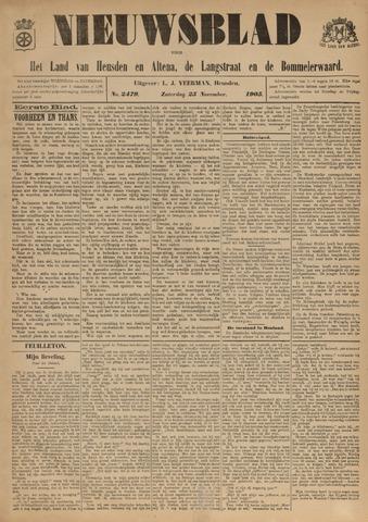 Nieuwsblad het land van Heusden en Altena de Langstraat en de Bommelerwaard 1905-11-25