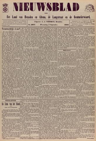 Nieuwsblad het land van Heusden en Altena de Langstraat en de Bommelerwaard 1910-09-07