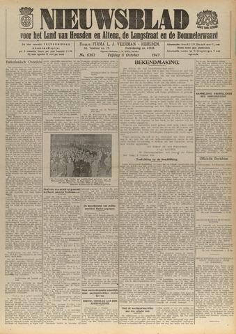 Nieuwsblad het land van Heusden en Altena de Langstraat en de Bommelerwaard 1943-10-08