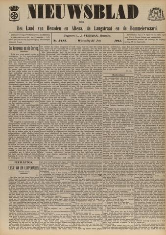 Nieuwsblad het land van Heusden en Altena de Langstraat en de Bommelerwaard 1915-07-21