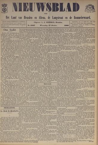 Nieuwsblad het land van Heusden en Altena de Langstraat en de Bommelerwaard 1909-10-27