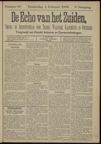 Echo van het Zuiden 1886-02-04