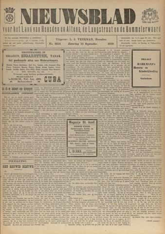 Nieuwsblad het land van Heusden en Altena de Langstraat en de Bommelerwaard 1919-09-13