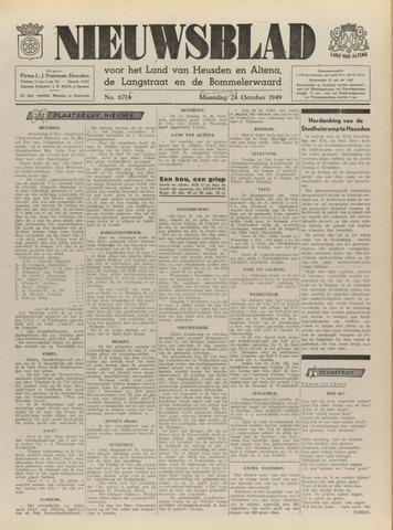 Nieuwsblad het land van Heusden en Altena de Langstraat en de Bommelerwaard 1949-10-27