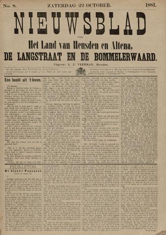 Nieuwsblad het land van Heusden en Altena de Langstraat en de Bommelerwaard 1881-10-22