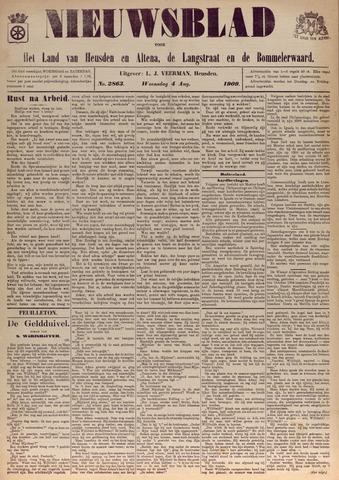 Nieuwsblad het land van Heusden en Altena de Langstraat en de Bommelerwaard 1909-08-04