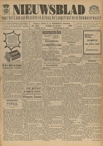 Nieuwsblad het land van Heusden en Altena de Langstraat en de Bommelerwaard 1922-10-13