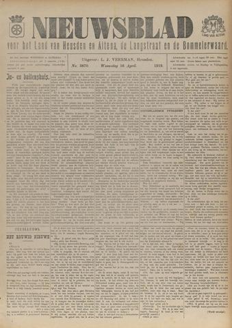 Nieuwsblad het land van Heusden en Altena de Langstraat en de Bommelerwaard 1919-04-16