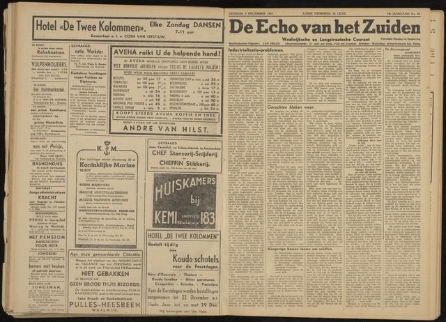 Echo van het Zuiden 1947-12-09