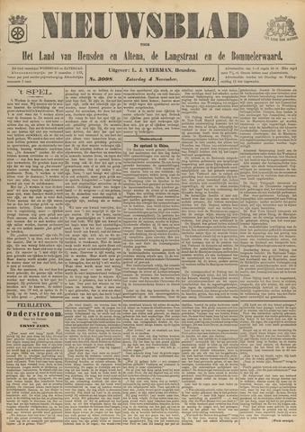 Nieuwsblad het land van Heusden en Altena de Langstraat en de Bommelerwaard 1911-11-04