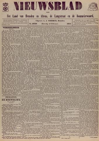 Nieuwsblad het land van Heusden en Altena de Langstraat en de Bommelerwaard 1911-02-04