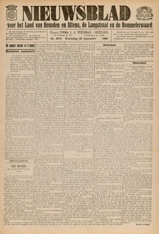 Nieuwsblad het land van Heusden en Altena de Langstraat en de Bommelerwaard 1936-09-23
