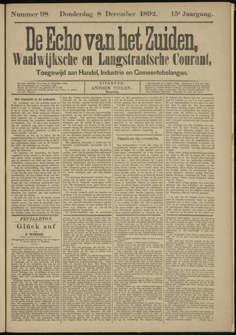 Echo van het Zuiden 1892-12-08