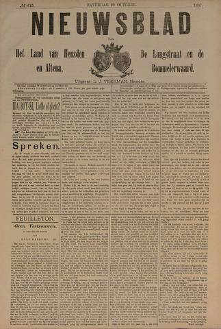 Nieuwsblad het land van Heusden en Altena de Langstraat en de Bommelerwaard 1887-10-29