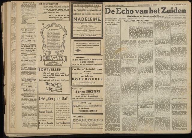 Echo van het Zuiden 1947-12-30