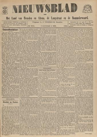 Nieuwsblad het land van Heusden en Altena de Langstraat en de Bommelerwaard 1904-05-04