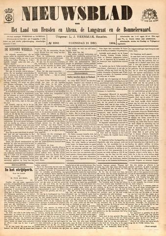 Nieuwsblad het land van Heusden en Altena de Langstraat en de Bommelerwaard 1904-12-21