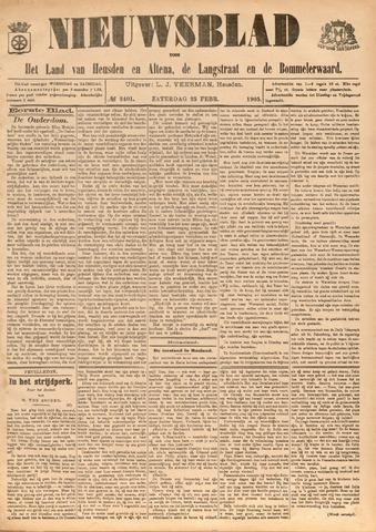 Nieuwsblad het land van Heusden en Altena de Langstraat en de Bommelerwaard 1905-02-25
