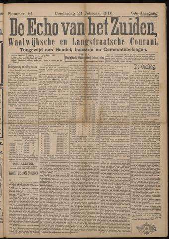 Echo van het Zuiden 1916-02-24