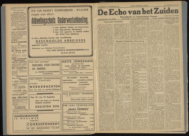 Echo van het Zuiden 1947-08-14
