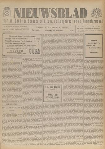 Nieuwsblad het land van Heusden en Altena de Langstraat en de Bommelerwaard 1919-02-15