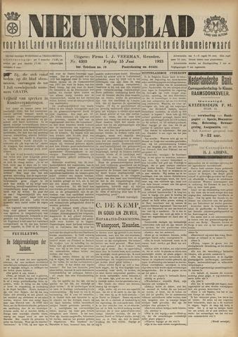 Nieuwsblad het land van Heusden en Altena de Langstraat en de Bommelerwaard 1923-06-15