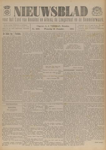 Nieuwsblad het land van Heusden en Altena de Langstraat en de Bommelerwaard 1918-11-20